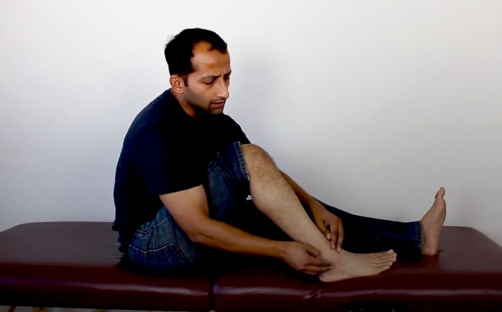 Ankle Sprain Self Mobilization Treatment - This video shows you a self treatment technique to correct the joint alignment after an ankle sprain. #ankle #injury #sprain #treatment #anklesprain http://www.tridoshawellness.com/ankle-sprain-self-mobilization-treatment/