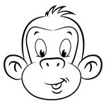 mojo the monkey childrens colouring page now available free to download save and print - Childrens Colouring