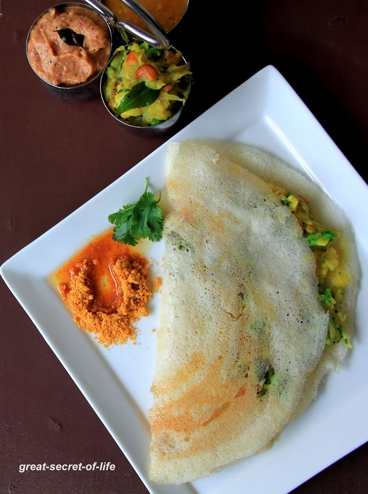 Masala Dosa - Dosa with Potato Filling - Dosa recipes ...