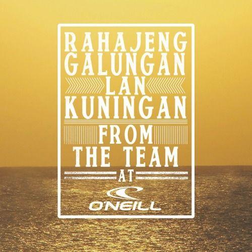 Selamat Hari Galungan dan Kuningan friends!! From the team at O'Neill #galungan #kuningan #celebrations #thisisindo #holiday #victory   (at Galungan & Kuningan)