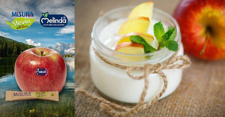 La mela Melinda Val Di Non più dolce, la dolcezza di origine naturale a 0 calorie di Misura Stevia, una vellutata crema di yogurt: gli ingredienti per un momento di serenità. #apple #Melinda #stevia #MisuraStevia #healthyfood