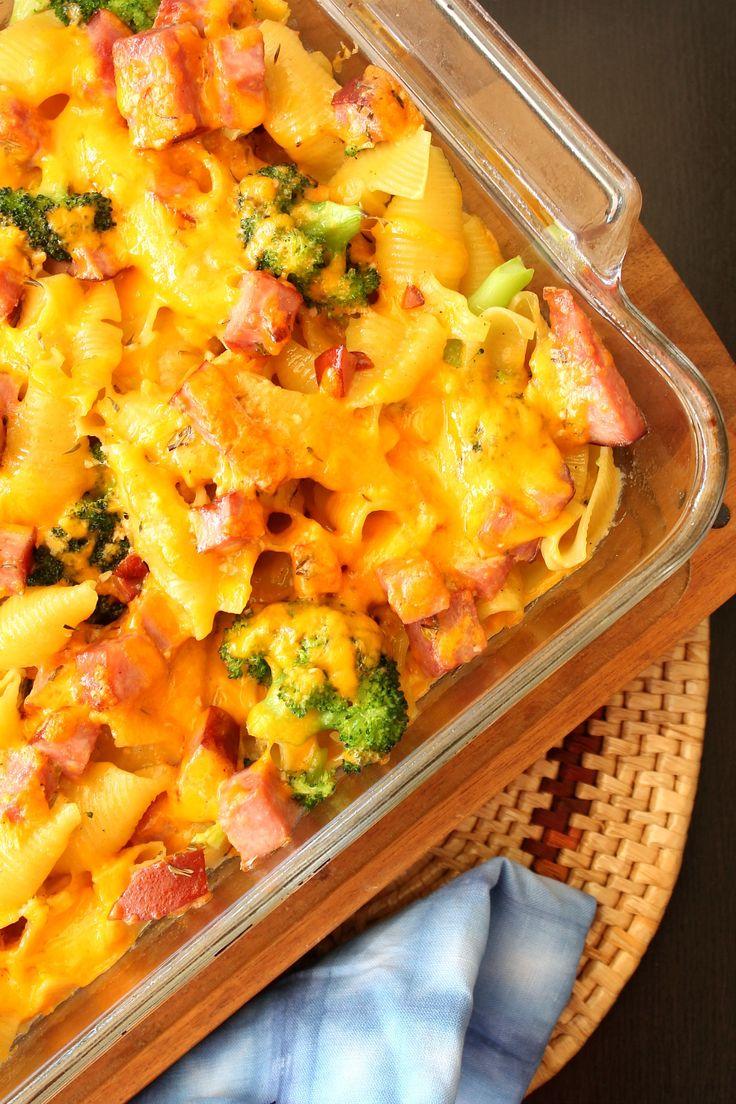 Cheesy Broccoli & Ham Pasta | 5DollarDinners.com