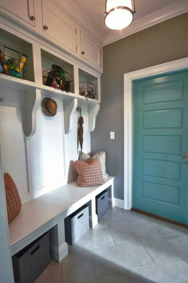 Mud room idea - great for the kids to put their stuff!