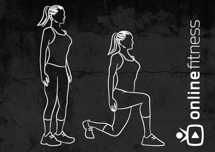 Jak správně dělat výpady vzad? | Blog | Online Fitness - živé fitness lekce, cvičení doma pod vedením trenérů