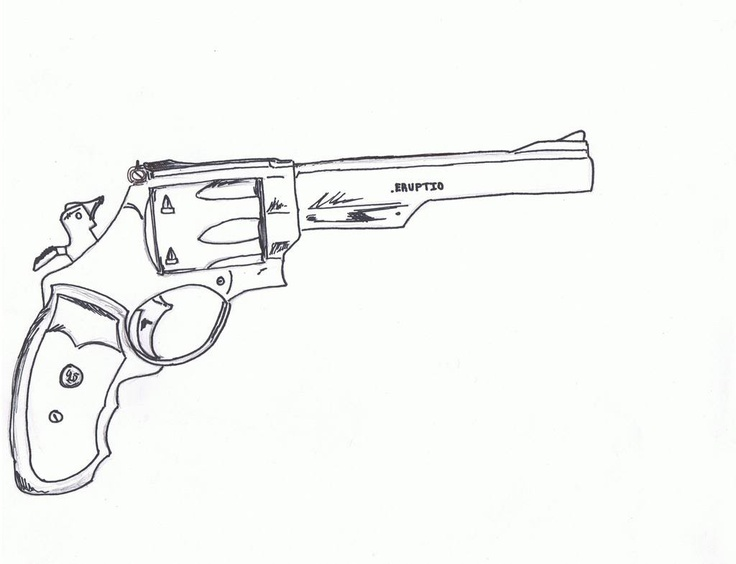 Line Drawing Gun : Best images about guns illustrations on pinterest