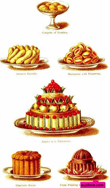 1800s Typical Desserts Served During A Regency Christmas