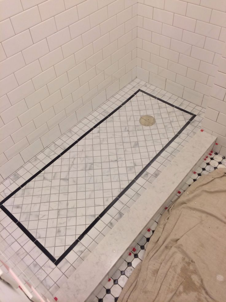 Shower Floor Tiles Which Why And How: Grouted Shower Floor - Silverado Grout.