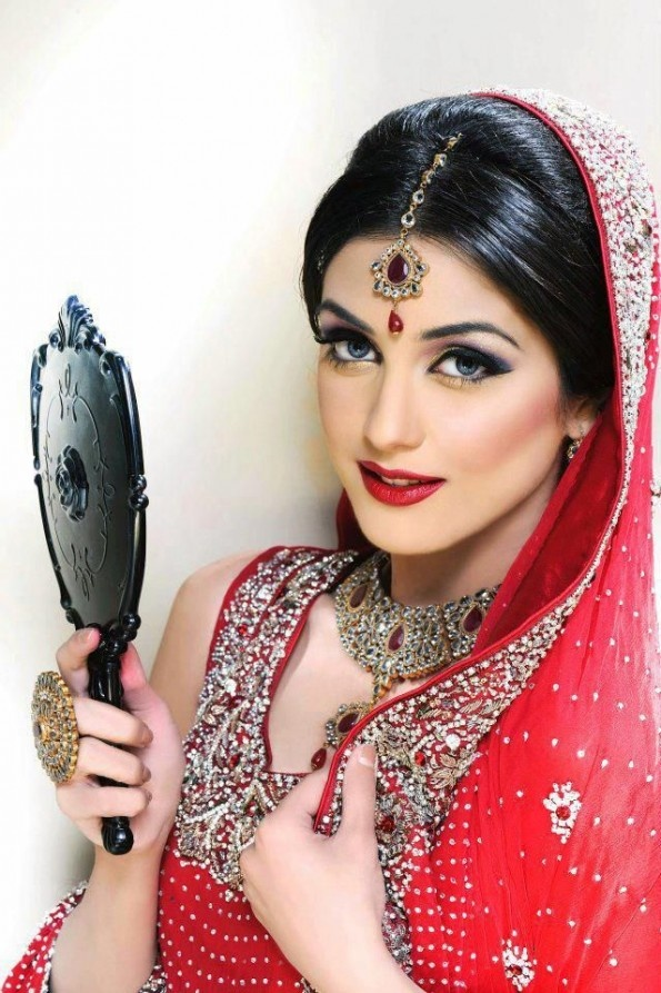 Tabya Sadya Winter 2013 Bridal Makeup Trends Fashion