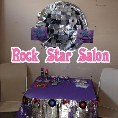rock star birthday party ideas | As you can tell, it looks like the girls had a great time dressing the ...