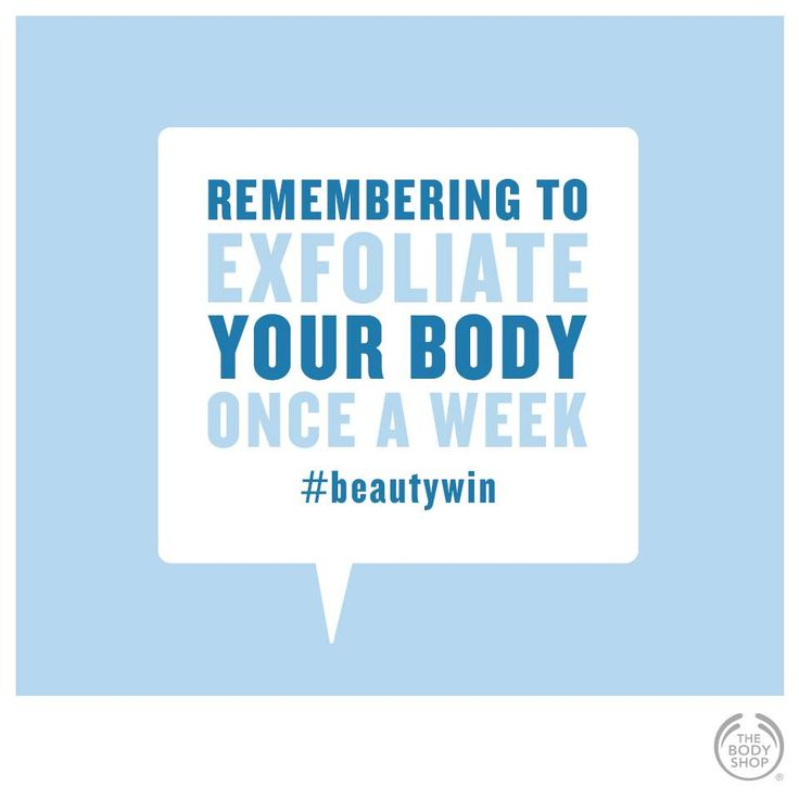Once-a-week full body exfoliation removes dead skin cells for super-smooth skin. What is your favourite The Body Shop Scrub? #beautywin