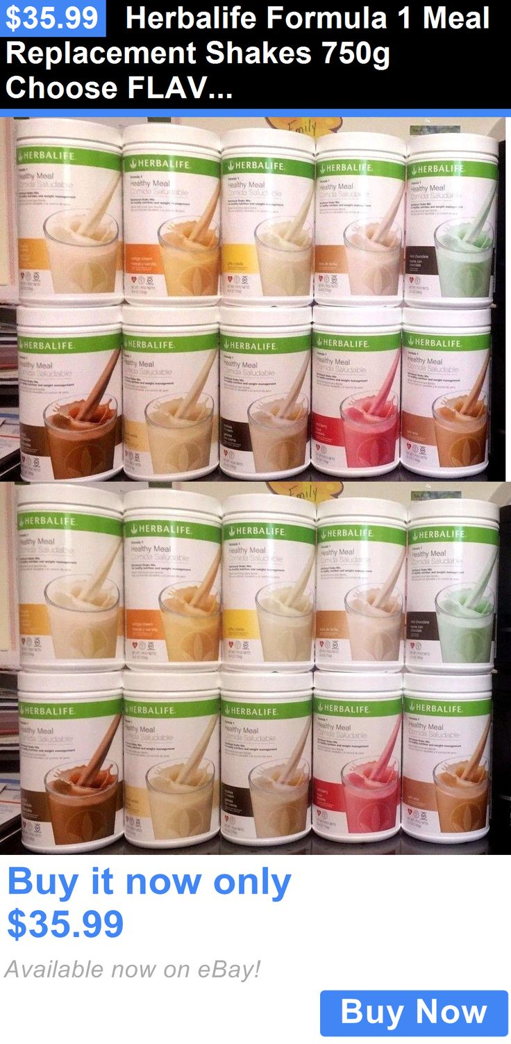 Meal Replacement Drinks: Herbalife Formula 1 Meal Replacement Shakes 750G Choose Flavors! Free Shipping!! BUY IT NOW ONLY: $35.99
