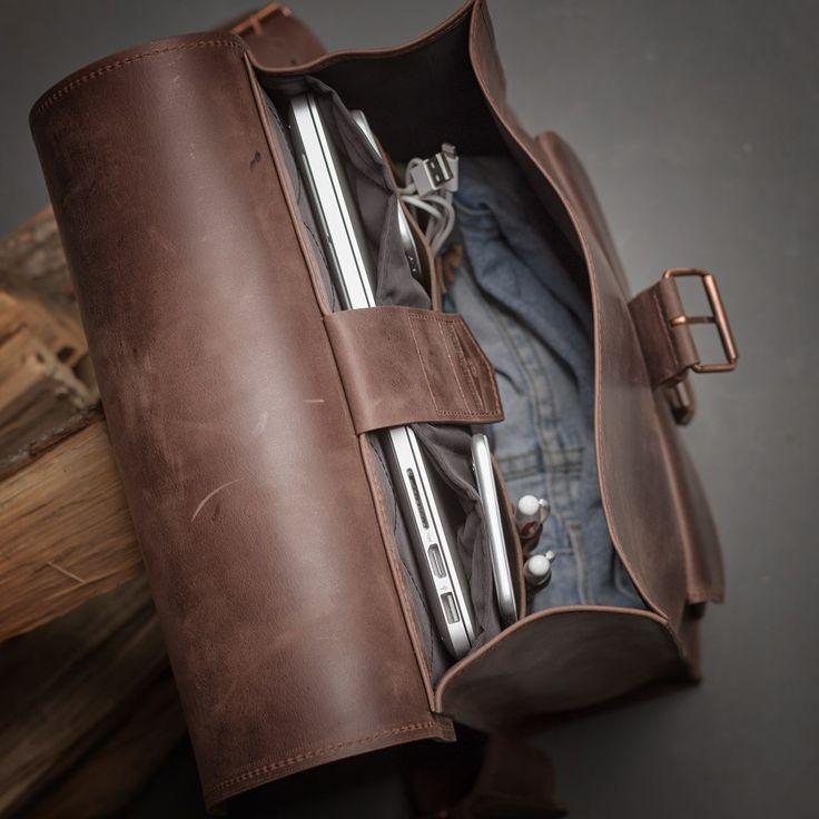 Kožený batoh - hnědý