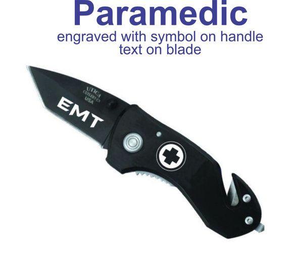 Comptact Rescue Knife Groomsmen Gift - EMT Gift - Pocket Knife - EMT/Medical Gift - Firefighter Knife on Etsy, $19.99