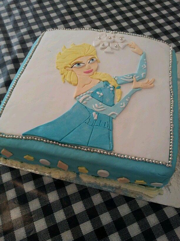 Elsa Frozen taart.