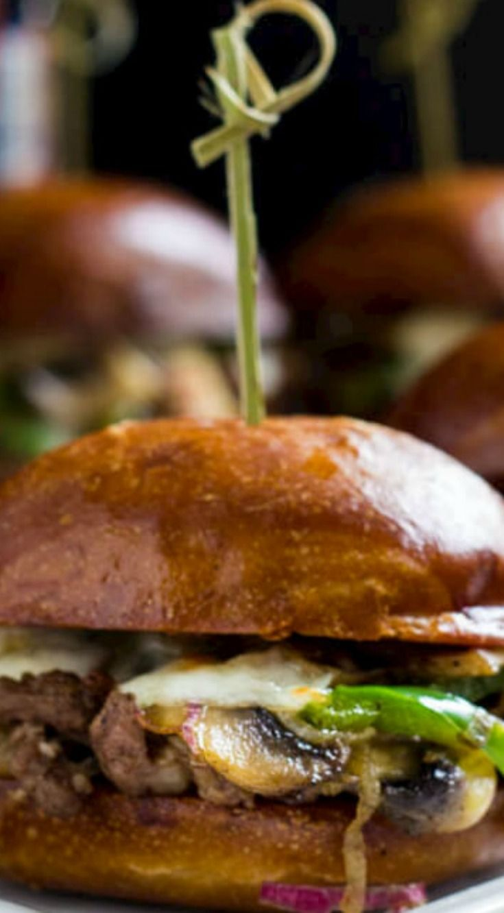 Philly Cheese Steak Sliders ~ They are irresistibly cheesy and flavorful, perfect for your game day menu!