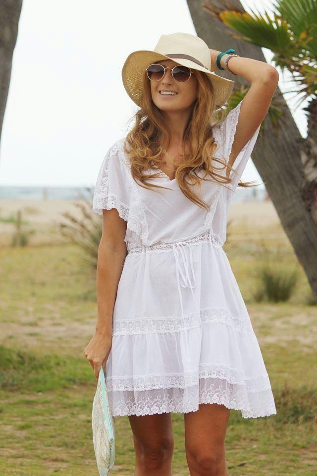 Vistoso Vestidos Blancos Cortos Boda En La Playa Modelo Ideas de