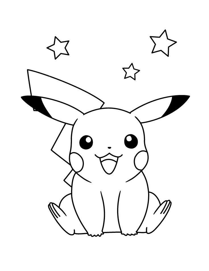 Resultado de imagen para pikachu dibujo para colorear ...