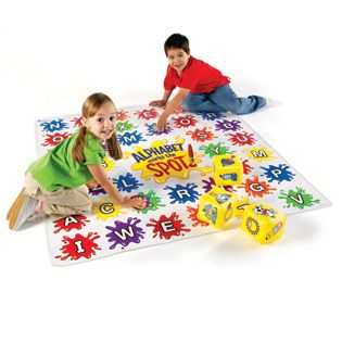 Alphabet Marks the Spot™ - Alphabet Awareness - Reading/Language Arts - Shop by Subject - Parents - Learning Resources®Features 8 different alphabet, letter sounds and spelling games for 1 player or a whole group—perfect for parties  Encourages gross motor skills  Includes 5 inflatable cubes illustrated with familiar objects that start with different letters, game markers and Activity Guide