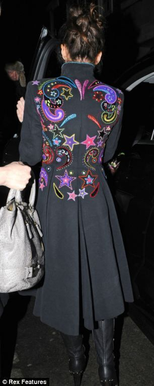 Colourful: Anna Friel is famous for wearing an array of unusual outfits