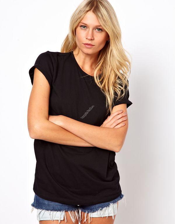 Backless Angel wings cutout black t-shirt