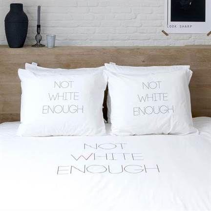 Walra Not White Enough dekbedovertrek op www.smulderstextiel.nl - #dekbedovertrek #sheets #bedding #modern #text #interior #scandinavisch