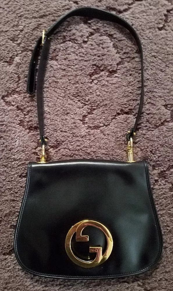 816eadfc663917 Authentic vintage Gucci GG Blondie Black Leather Bag Nice !!! #fashion  #clothing #shoes #accessories #womensbagshandbags (ebay link)