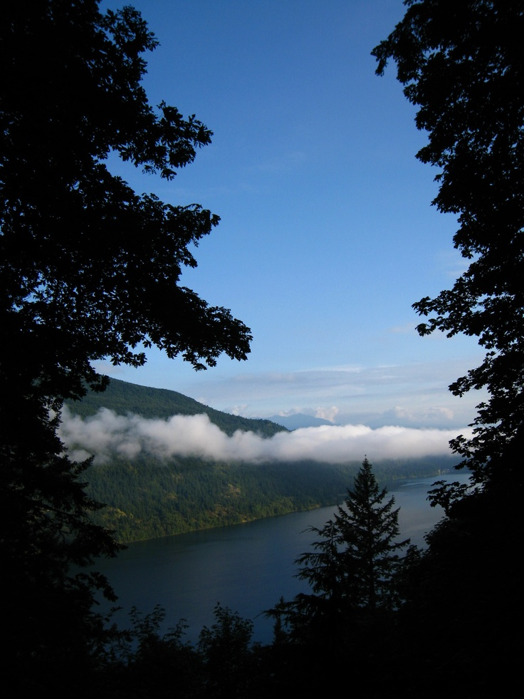 The view of Cultus Lake from Teapot Hill (the most popular hike in Cultus Lake Provincial Park) photo by m.a. #hiking #views #chilliwack