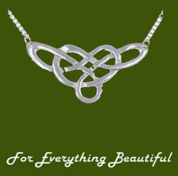 Celtic Endless Linked Knotwork Design Stylish Pewter Pendant
