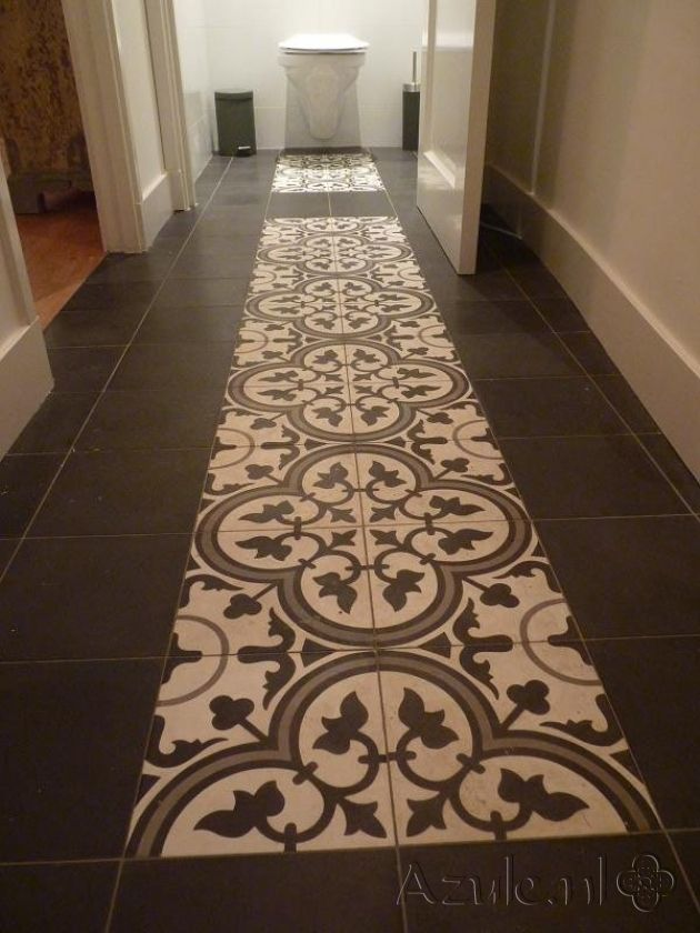 Cement tiles Hall - Gris 05 - Egal Negra S800 - Project van Designtegels.nl