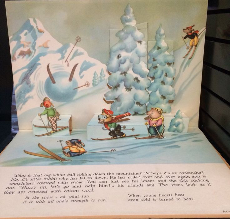 """""""The Happy Skiers"""" illustrated by Bruno Tomba c1965"""