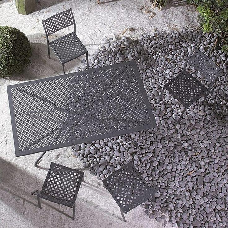 Tavolo in metallo per esterni Estate 160