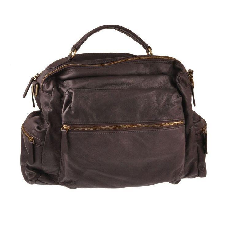 Pellevera borsa uomo donna in pelle lavata a mano e zaino leather backpack