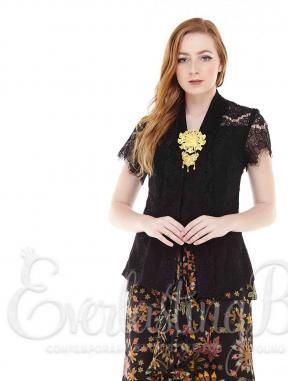 CA.11144  Zabrina Black Lace Top Catalog www.everlastingbatik.co.id batik