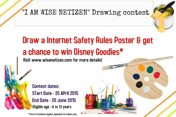 Make your child Cyber smart & get chance reward him!Take part in our drawing #contest,click here http://bit.ly/1Je1bBl  #India  #Drawing #onlinesafety #internet #Internetsafety #cybersmart #kids #staysafe #parenting #competition #facebook