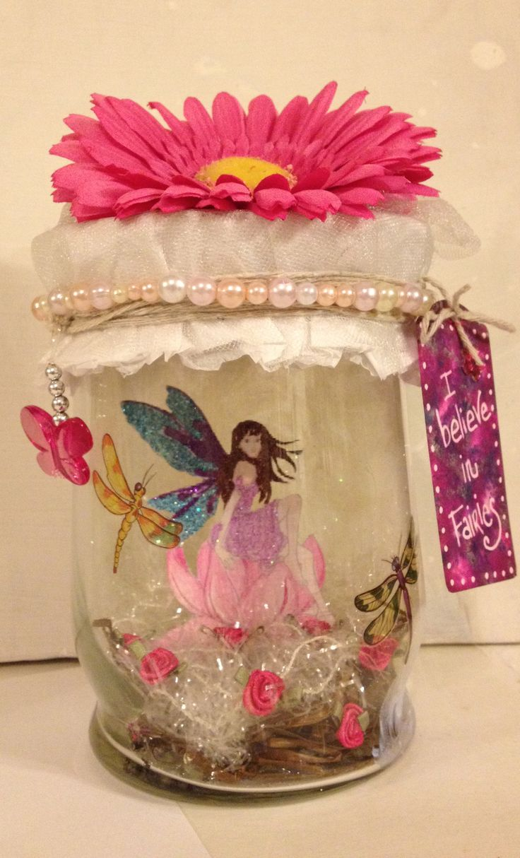 Captured Fairy Jar  by ClaudiaRossiStudios.com  Check me out at:  www.etsy.com/people/ClaudiaRossiStudios  www.youtube.com/ClaudiaRossiStudios