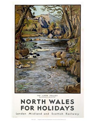 North Wales Railway Poster