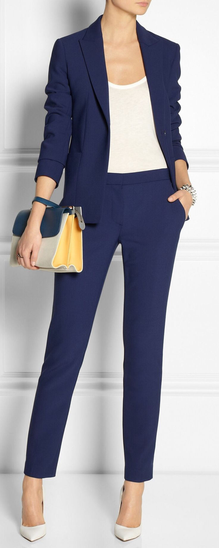 Elegant  Outfit On Pinterest  Navy Pants Navy Blue Pants And Chinos Women