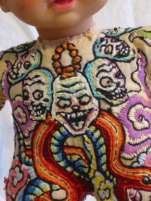 embroidery tattoo doll.  freaking amazing.  by sherri lynn wood.  have i said how much i love her stuff???