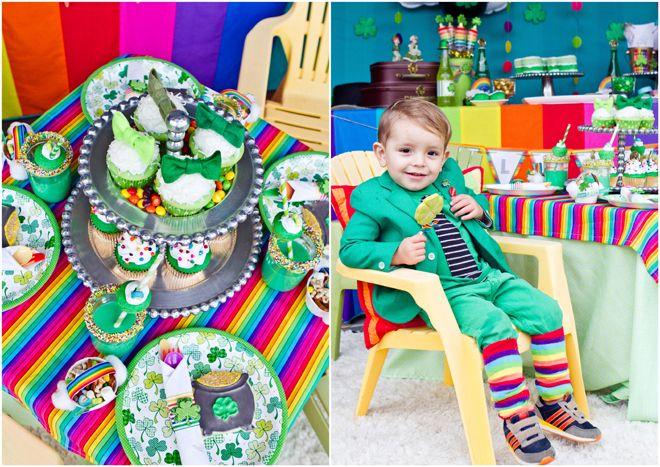 "St. Patrick's Day ""Goldschatz"" Regenbogenparty"