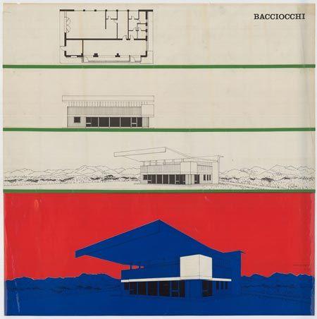 Intervento di Costantino Dardi sul modello di stazione di servizio Agip (tipo Bacciocchi, 1952), 1972.