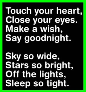 never leave with goodnight kiss