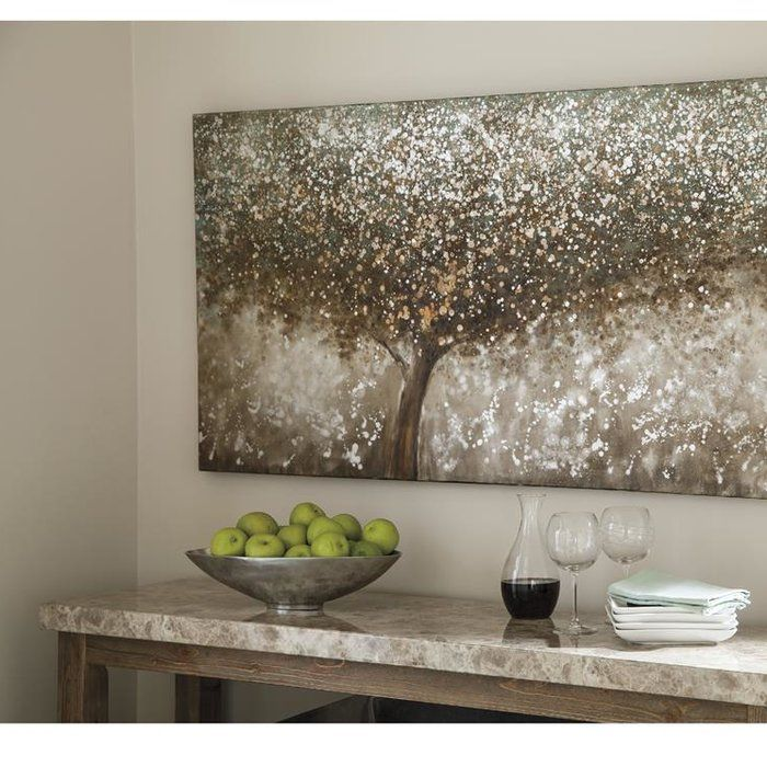 Oil Painting Print On Wrapped Canvas Metal Tree Wall Art Room Wall Art Wall Art Sets