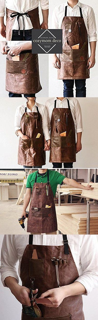 Aprons 20657: Cozymom Handmade Cross Back Fake Leather Utility Apron - Brown Color -> BUY IT NOW ONLY: $67.98 on eBay!