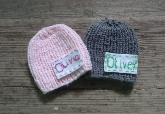 Personalized  hat Infant hat Coming Home Outfit by IfonBabyLand
