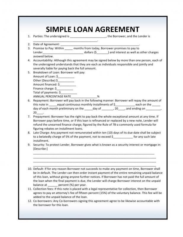Personal Loan Agreement Pdf Template Business Contract Template Personal Loans Loan