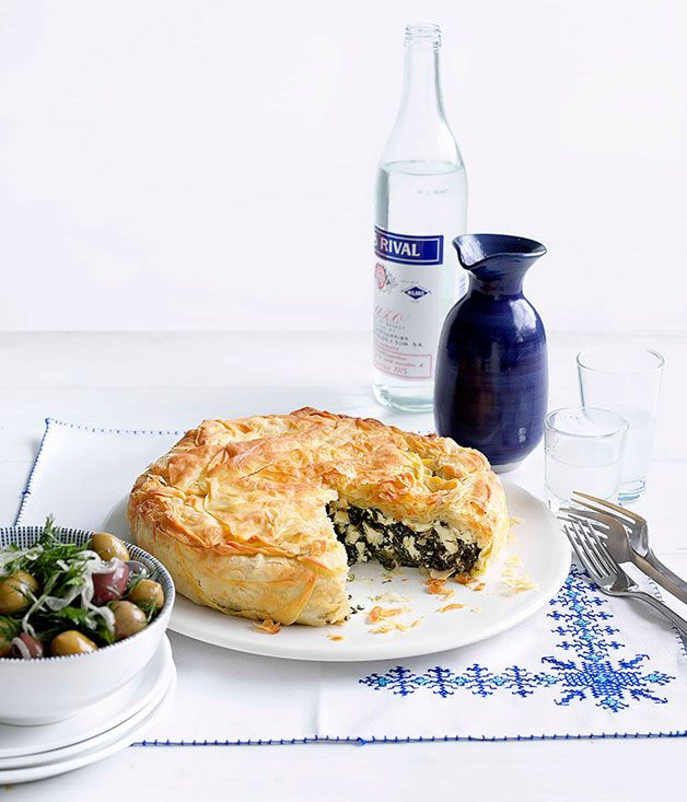 Australian Gourmet Traveller classic Greek recipe for spanakopita.