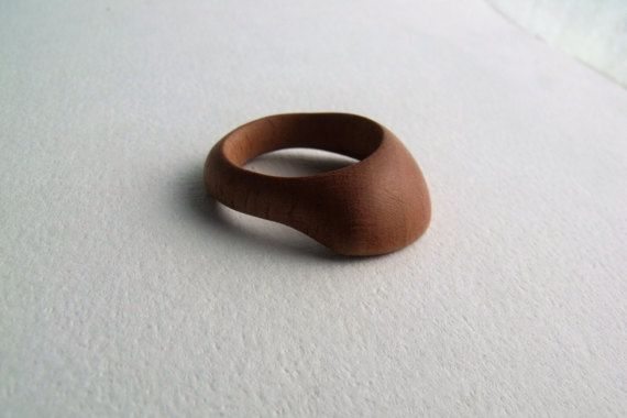 CLUTCH  Hand Carved Wood Ring  Wooden Ring  Natural by STandoneART