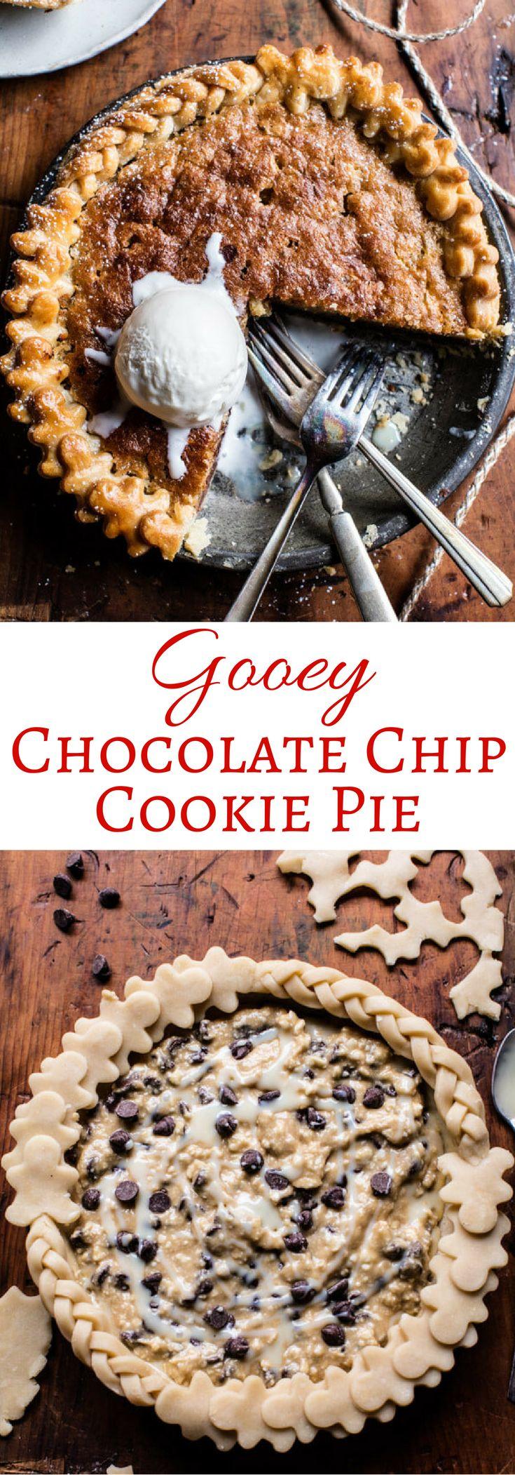 Gooey Chocolate Chip Cookie Pie | halfbakedharvest.com @hbharvest