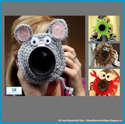 DIY And Household Tips: Crocheted Toys Attached To The Camera Lens