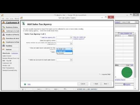 Learn how to set up your sales tax in Sage 50